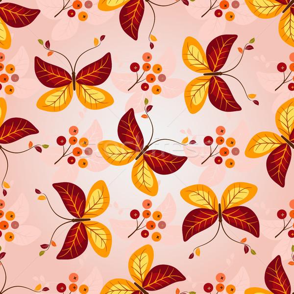 Foto stock: Gradiente · outono · colorido · borboletas
