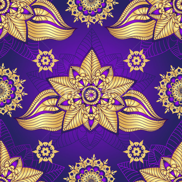 Vintage violet seamless pattern  Stock photo © OlgaDrozd