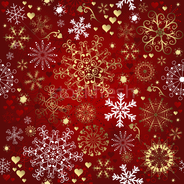 Christmas red seamless pattern Stock photo © OlgaDrozd
