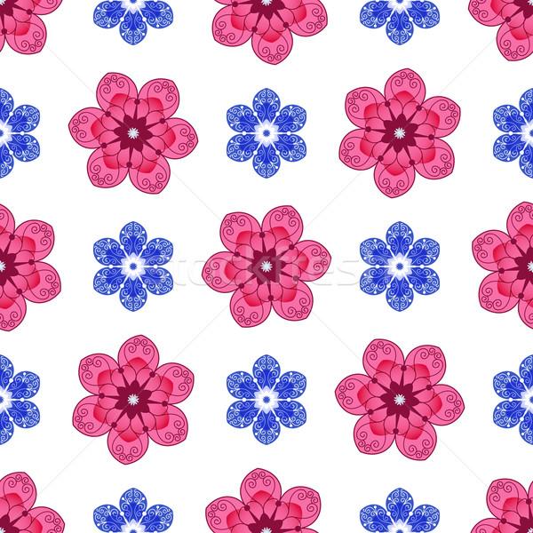 Sin costura floral colorido patrón primavera Foto stock © OlgaDrozd