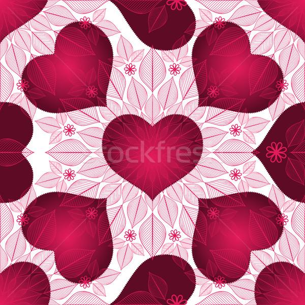 Valentine vintage gradiente roxo corações Foto stock © OlgaDrozd