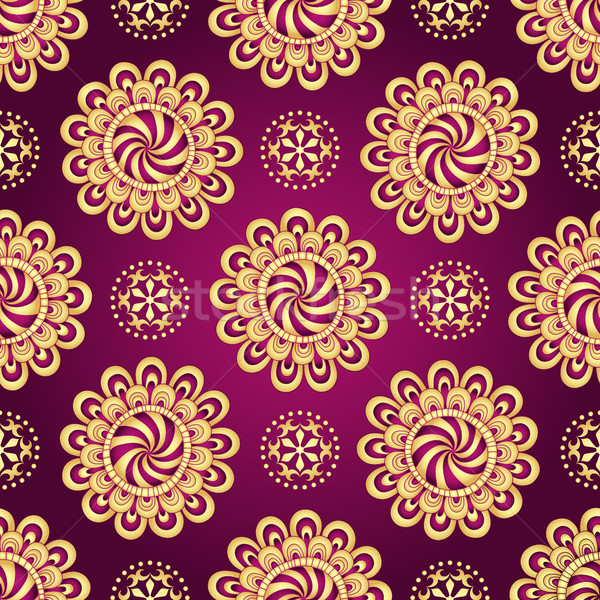 Vintage dark purple seamless pattern Stock photo © OlgaDrozd