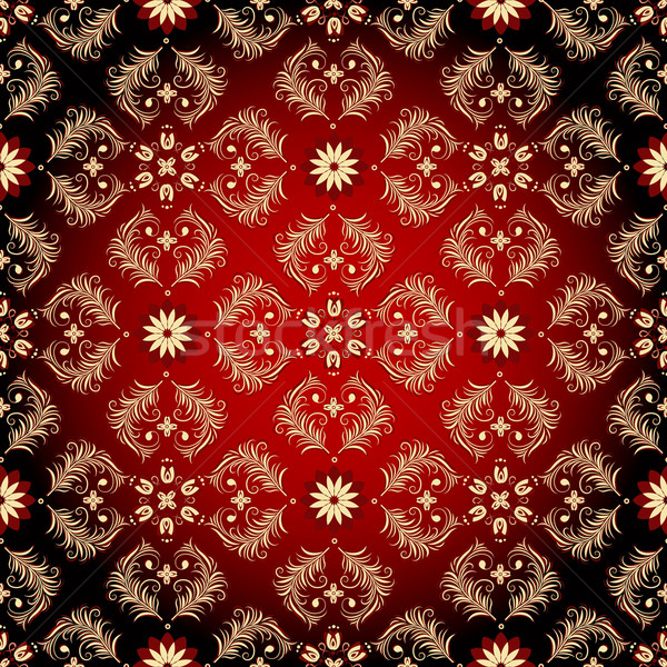 Сток-фото: бесшовный · Vintage · шаблон · цветы · вектора · текстуры