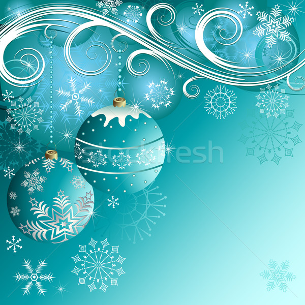 Blue christmas frame(vector)  Stock photo © OlgaDrozd