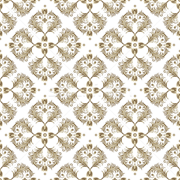 Seamless white vintage pattern Stock photo © OlgaDrozd