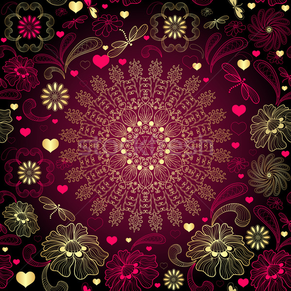 Seamless valentine pattern Stock photo © OlgaDrozd