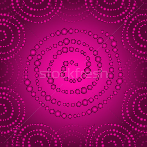 Purple seamless pattern with gradient dots spirals Stock photo © OlgaDrozd