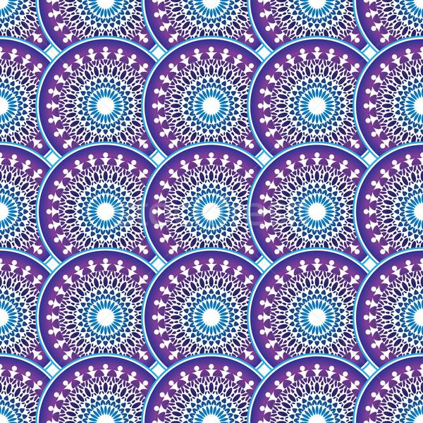 Kleurrijk vintage cirkels vector star Stockfoto © OlgaDrozd