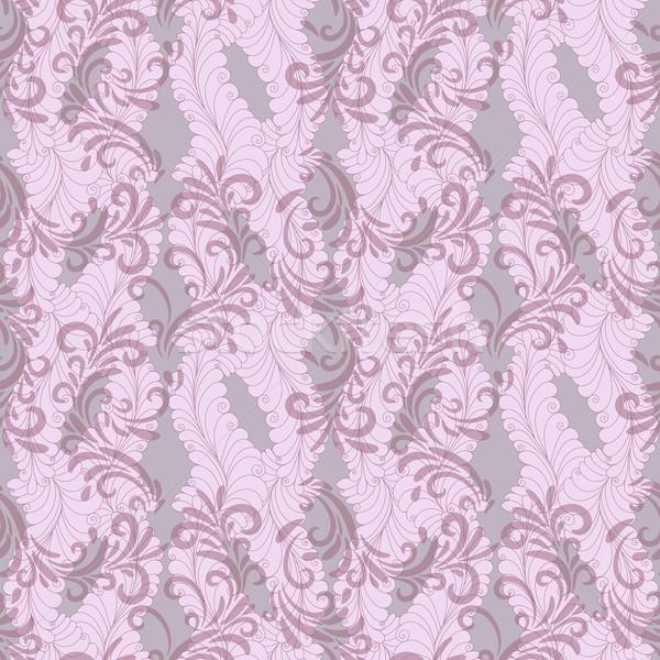 Senza soluzione di continuità rosa floreale pattern trasparente Foto d'archivio © OlgaDrozd