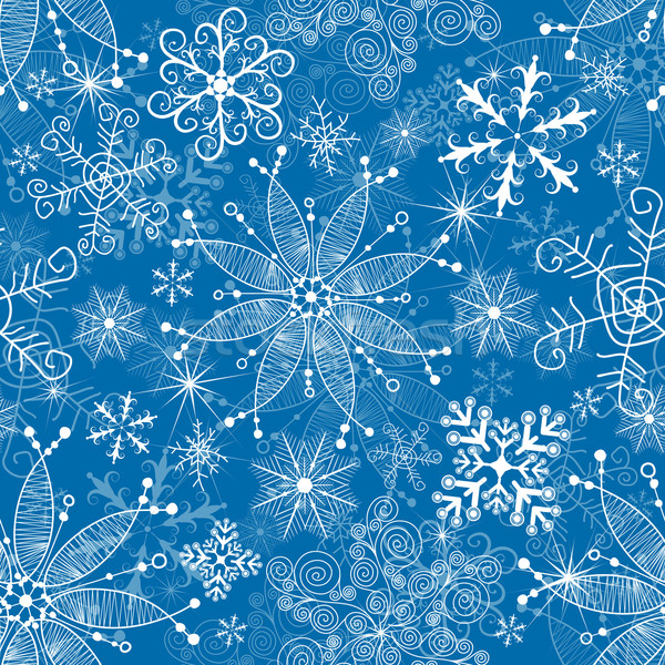 Seamless blue christmas pattern Stock photo © OlgaDrozd