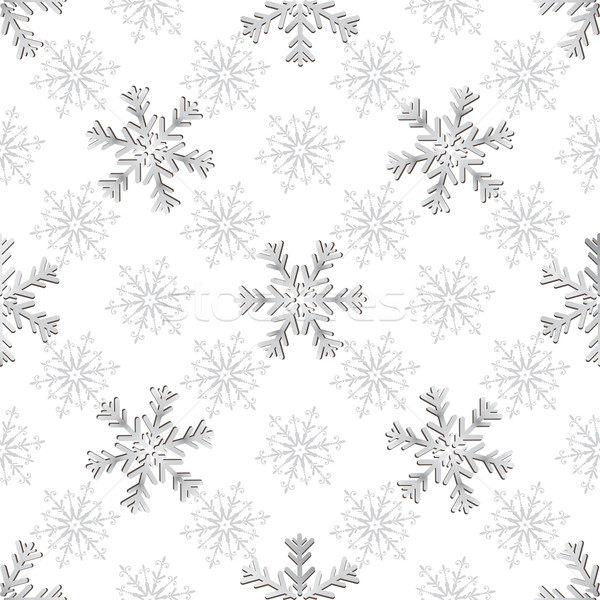 Seamless silvery christmas pattern Stock photo © OlgaDrozd