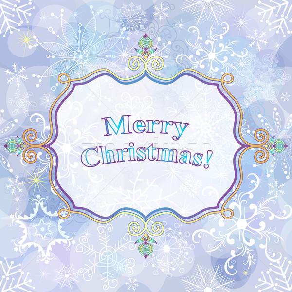 Christmas gentle greeting card Stock photo © OlgaDrozd