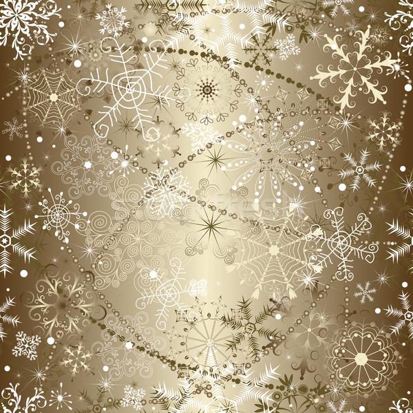 Brillante Natale fiocchi di neve sfondo Foto d'archivio © OlgaDrozd