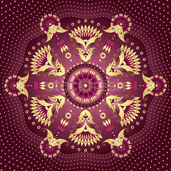 Stock fotó: Keret · dekoratív · klasszikus · minták · vektor · virág