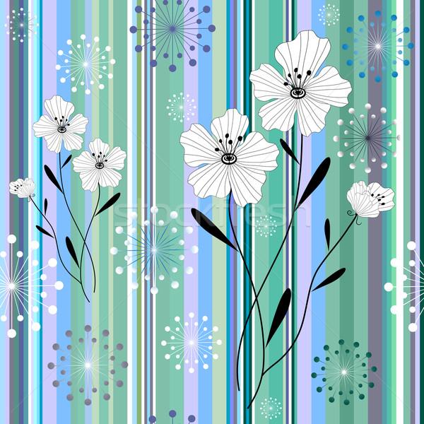 Floral rayé modèle demande vecteur Photo stock © OlgaDrozd