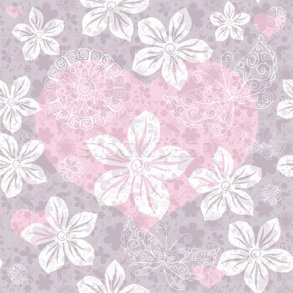 Seamless gentle valentine pattern Stock photo © OlgaDrozd
