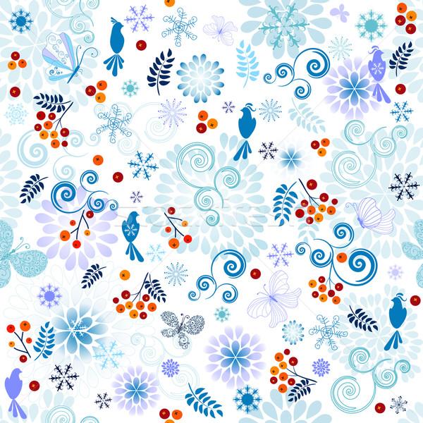 Winter effortless pattern Stock photo © OlgaDrozd