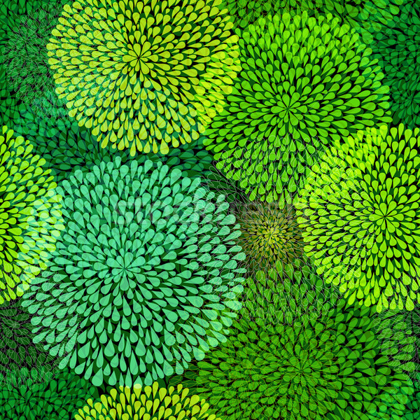 Green repetitive pattern Stock photo © OlgaDrozd
