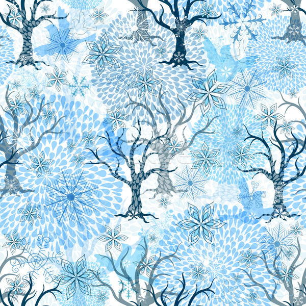 Winter seamless pattern Stock photo © OlgaDrozd