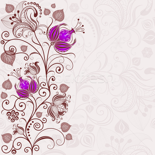 нежный цветочный Пасху кадр фиолетовый цветы Сток-фото © OlgaDrozd