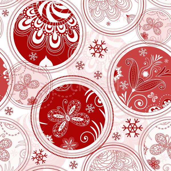 Motif de noël blanche flocons de neige vecteur Photo stock © OlgaDrozd