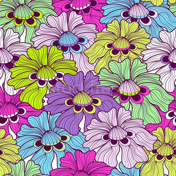 Seamless floral spotty pattern Stock photo © OlgaDrozd