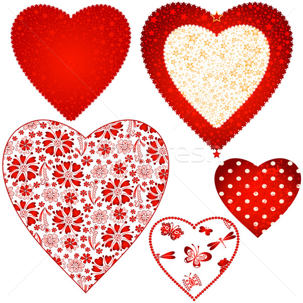 Collection valentine hearts  Stock photo © OlgaDrozd
