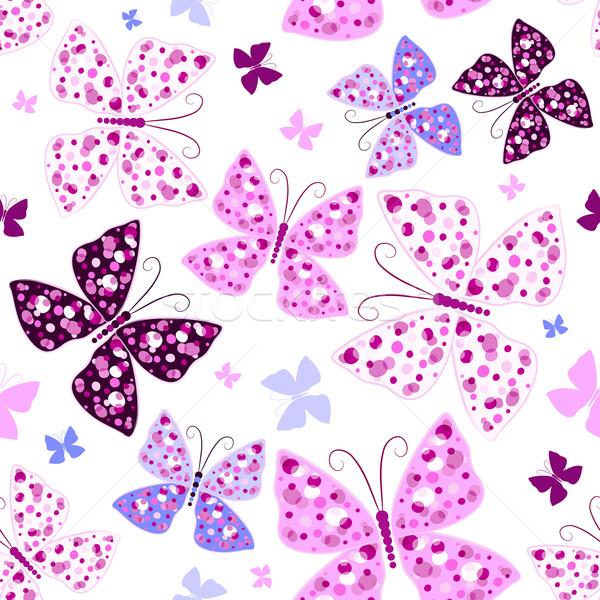 Papillons blanche modèle rose Photo stock © OlgaDrozd