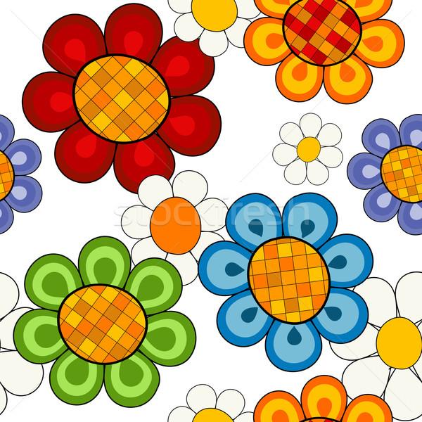 Effortless vivid floral pattern Stock photo © OlgaDrozd