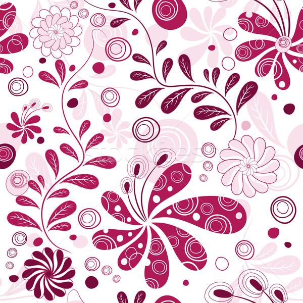 Branco roxo wallpaper flores vetor fundo for Papel decorativo azul