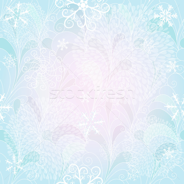 Stock photo: Seamless christmas gentle pattern