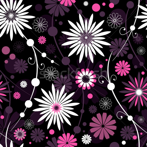 Seamless Floral Pattern (vector) Stock photo © OlgaDrozd
