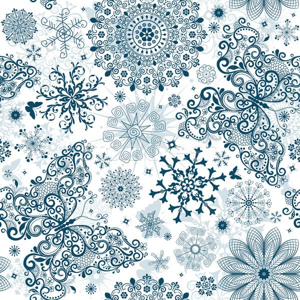 Noël vintage blanche calligraphie flocons de neige Photo stock © OlgaDrozd