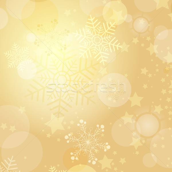 Christmas gold frame Stock photo © OlgaDrozd