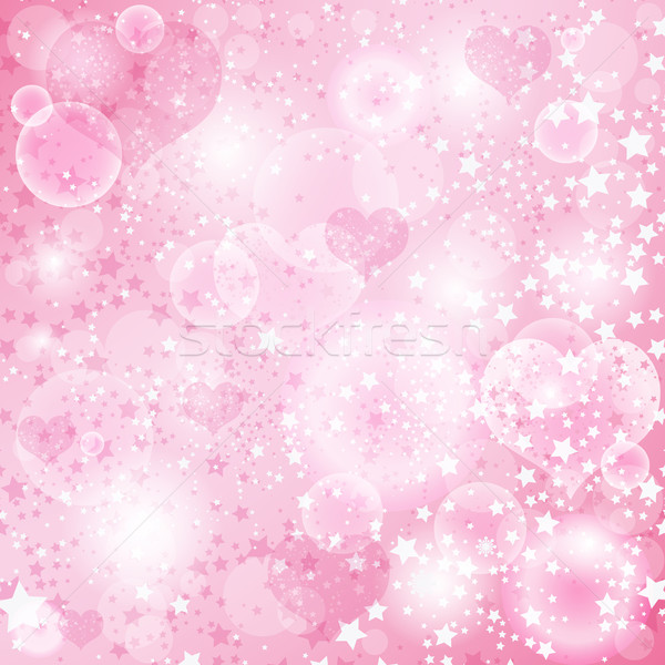 Gentle pink valentine background Stock photo © OlgaDrozd