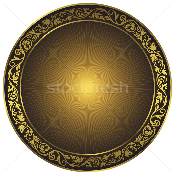 Ouro preto vintage padrão isolado quadro Foto stock © OlgaDrozd