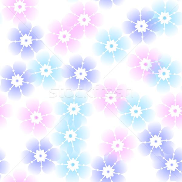 Sem costura floral pastel padrão primavera vintage Foto stock © OlgaDrozd