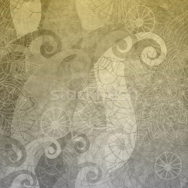 Gris wallpaper vintage modèle vieux texture Photo stock © OlgaDrozd