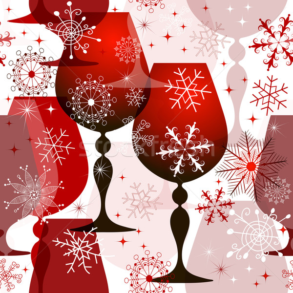 Christmas red-white seamless pattern Stock photo © OlgaDrozd