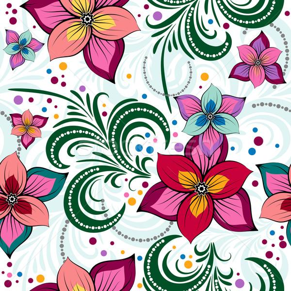Floral vivid seamless pattern Stock photo © OlgaDrozd
