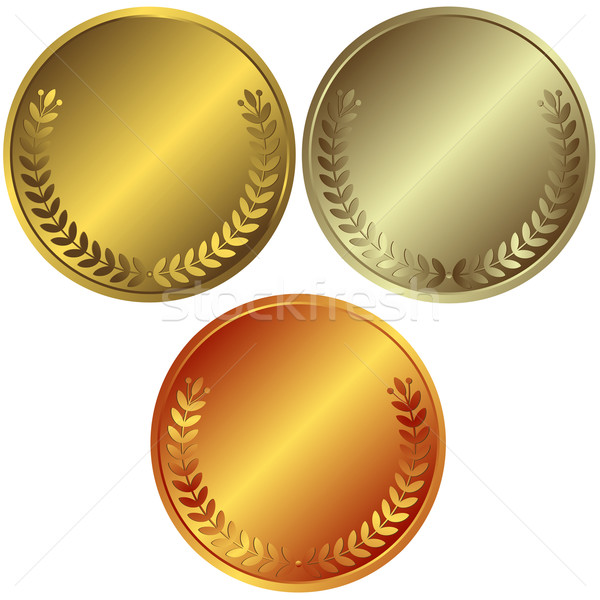 Gold, silver and bronze medals Stock photo © OlgaDrozd