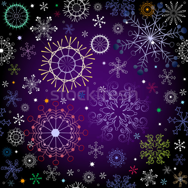 Black and violet effortless christmas pattern Stock photo © OlgaDrozd