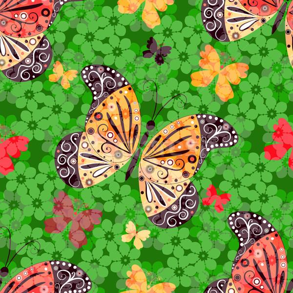 Model kelebekler renkli vektör Stok fotoğraf © OlgaDrozd