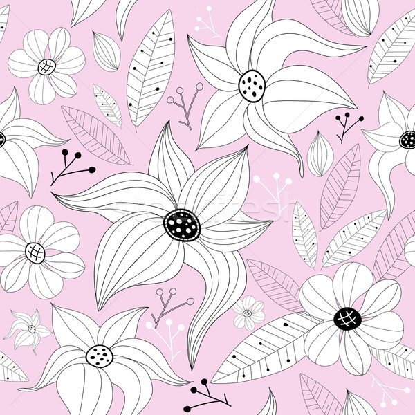 Pink pastel seamless floral pattern Stock photo © OlgaDrozd