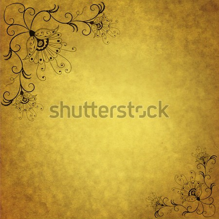 Tattered old paper page Stock photo © OlgaDrozd