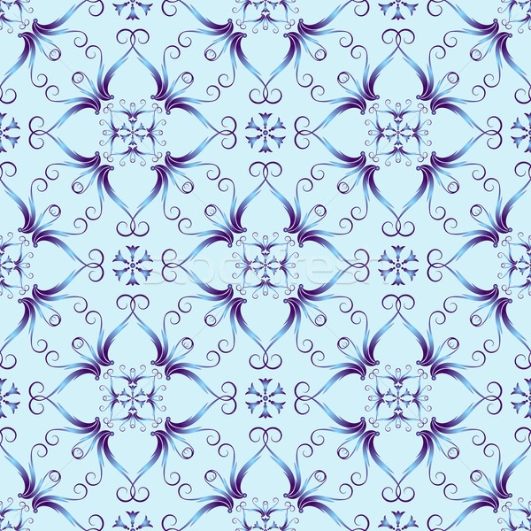 Blue christmas pattern Stock photo © OlgaDrozd