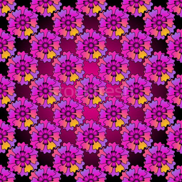 Floral purple seamless spring patter Stock photo © OlgaDrozd
