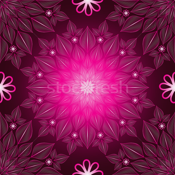 Seamless purple floral doily  Stock photo © OlgaDrozd