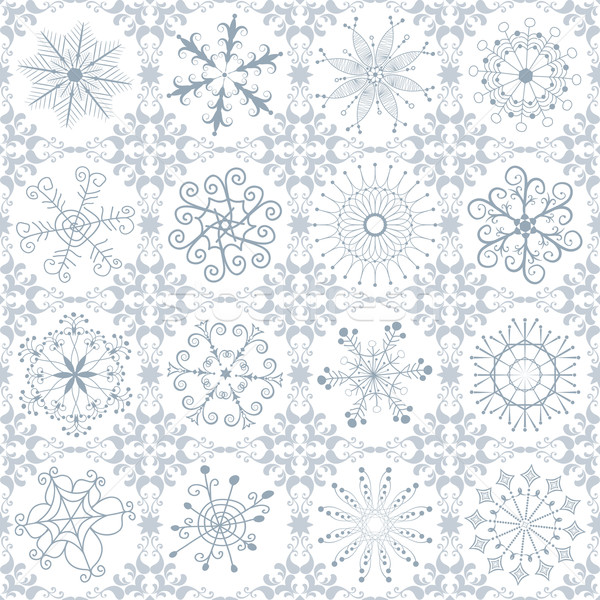 Christmas silvery repeating pattern Stock photo © OlgaDrozd