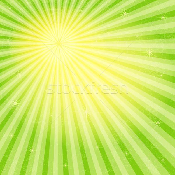Vivid grungy frame with sun rays Stock photo © OlgaDrozd
